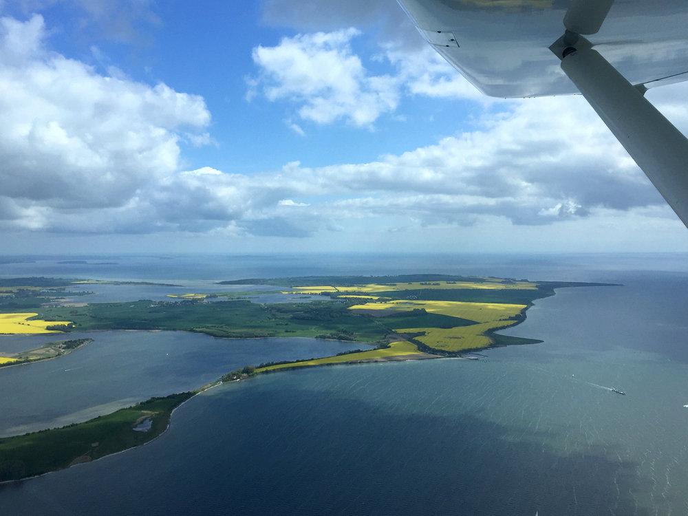 Rundflug über die Ostsee